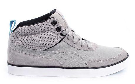 Pánské šedé kotníčkové boty Puma