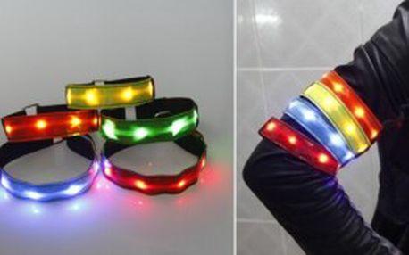 Blikací reflexní pásek na ruku nebo nohu