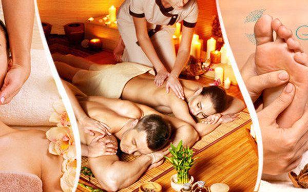 Partnerská královská masáž 2x (60 minut) s vychlazeným šampaňským v luxusním salonu Elite