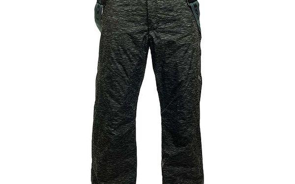 Pánské šedo-černé melírované lyžařské kalhoty Loap