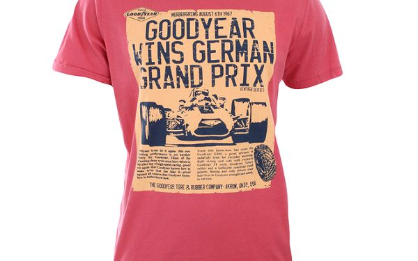 Pánské červené tričko s potiskem Goodyear