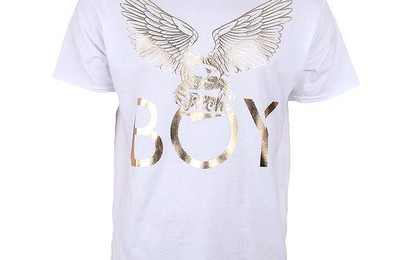 Pánské bílé tričko se zlatým orlem Not Guilty Rich Boy