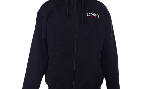Pánská černá mikina s kapucí Hardcore United