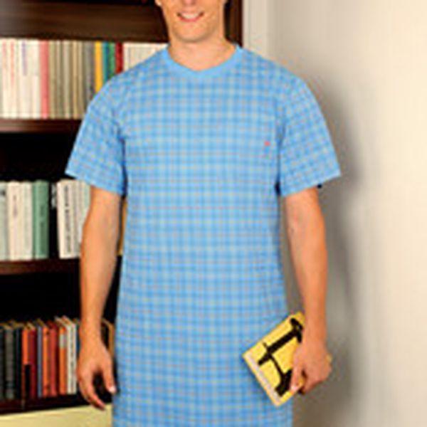 Krásná károvaná pánská noční košile PS 9195 Andrie