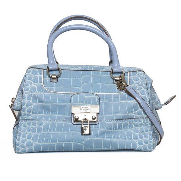 Dámská modrá kabelka se zámečkem Guess