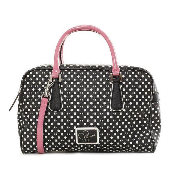 Dámská černá kabelka s puntíky Guess