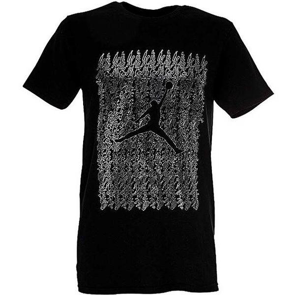 Pánské černé tričko s basketbalistou Nike