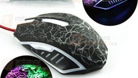 Herní optická myš s LED osvětlením a poštovné ZDARMA! - 28309802