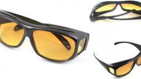 HD Vision 2ks - černé a žluté brýle pro řidiče
