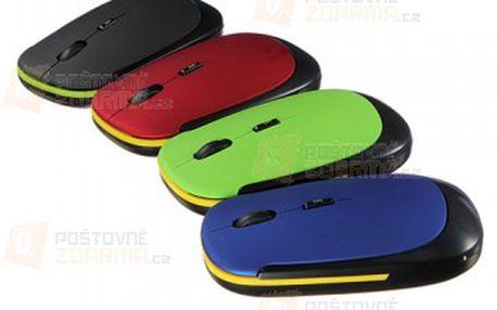 Ultratenká bezdrátová optická myš - na výběr ze 4 barev a poštovné ZDARMA! - 32402423