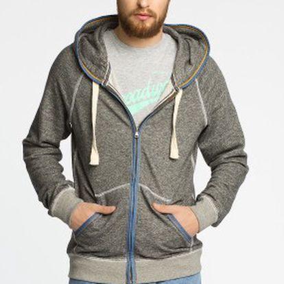 Alcott - módní pánská rozepínací mikina s kapucí