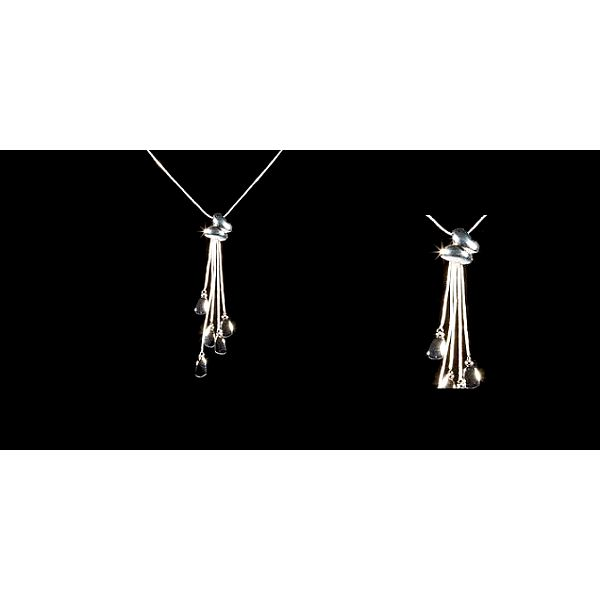 Elegantní řetízek s přívěškem ve tvaru motýlka s přívěšky potažený kvalitním stříbrem!