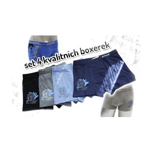 Kvalitní set pánských boxerek z bavlny zaručující pohodlí při nošení. Čtyři kusy boxerek za 249 Kč včetně doručení po ČR.