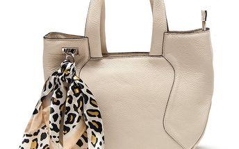 Dámská béžová kabelka s šátkem Renata Corsi