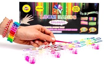 Hit letošní sezóny - Sada Loom Bands na výrobu náramků. Dokonalá hračka pro kluky i holky! Upleťte si duhové náramky.