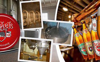 Pivní stezka, prohlídka pivovaru i 3chodové menu
