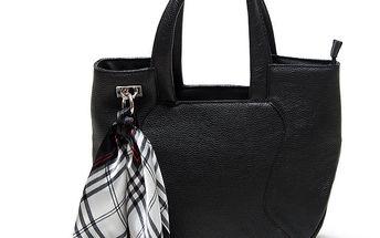 Dámská černá kabelka s šátkem Renata Corsi
