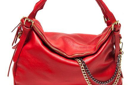 Dámská červená kabelka s řetízkem Renata Corsi