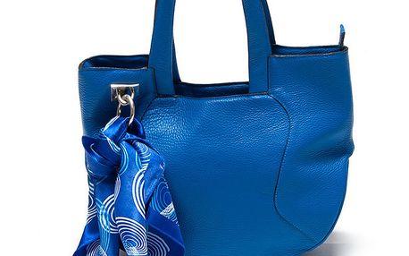 Dámská modrá kabelka s šátkem Renata Corsi