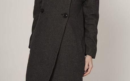 Dámský tmavě šedý dvouřadý kabát Mell
