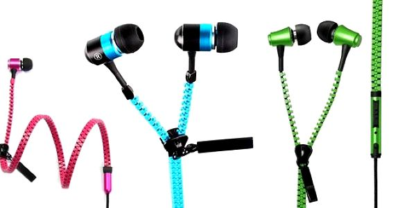 Stylová sluchátka na zip v krásných barvách