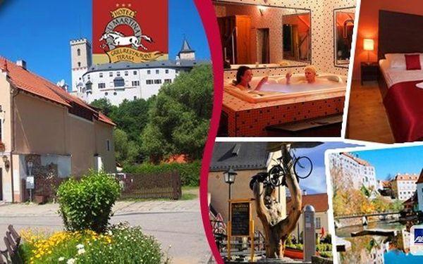 Rožmberk nad Vltavou– Pobyt pro 2 osoby na 3 dny v hotelu U Martina s polopenzí. Vyberte si buď wellness pobyt swhirpoolem či saunou anebo zážitkový pobyt s bonusem v podoběLipnocard