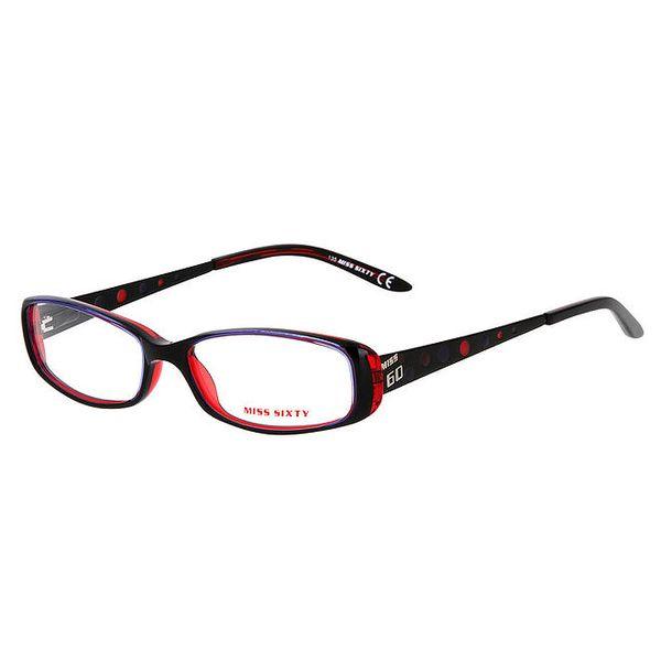 Dámské černé brýle s červenými detaily Miss Sixty