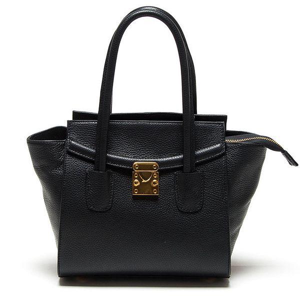 Dámská černá kabelka se zlatým zámečkem Renata Corsi