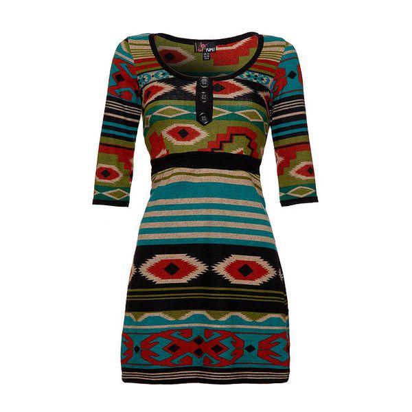 Dámské barevné indiánské šaty Yumi