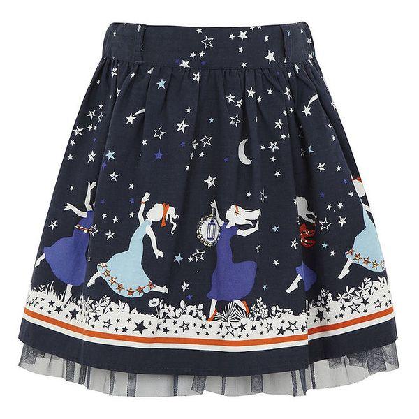 Dívčí modrá sukně do pasu Uttam Boutique