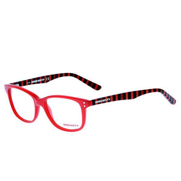 Dámské červené pruhované brýle Miss Sixty