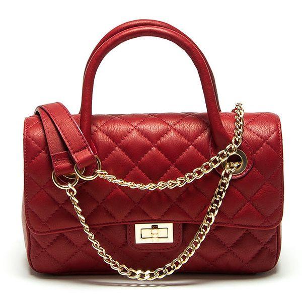 Dámská malá červená prošívaná kabelka Renata Corsi