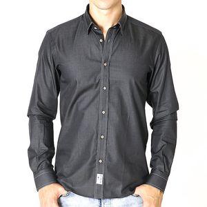 Pánská tmavě šedá košile s nášivkou Santa Barbara