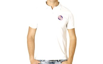 Pánské bílé polo tričko s kulatou nášivkou Santa Barbara