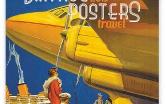 Plakáty - cestování, poznámkový kalendář 2015, 30 x 30 cm