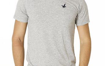 Pánské světle šedé tričko s krátkým rukávem Santa Barbara