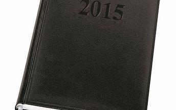 Herlitz Diář 2015 denní A5 - černý