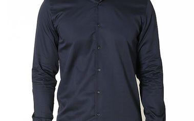 Pánská tmavě modrá košile s dlouhým rukávem Santa Barbara