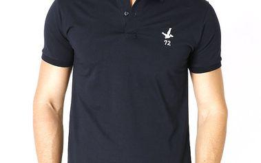 Pánské tmavě modré polo tričko s krátkým rukávem Santa Barbara
