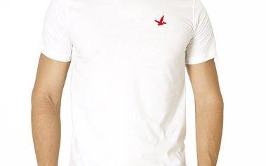 Pánské bílé tričko s krátkým rukávem Santa Barbara