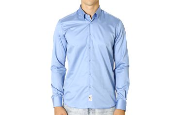 Pánská světle modrá bavlněná košile Santa Barbara