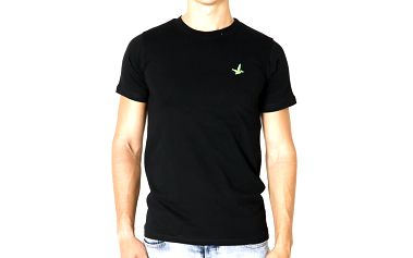 Pánské černé tričko s krátkým rukávem Santa Barbara