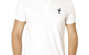 Pánské bílé polo tričko s krátkým rukávem Santa Barbara