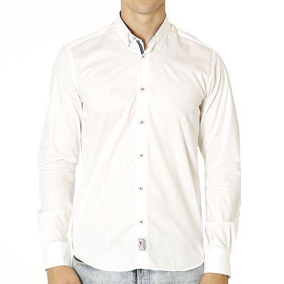 Pánská bílá košile s nášivkou Santa Barbara