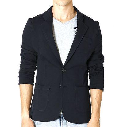 Pánské tmavě modré sako s náprsní kapsou Santa Barbara