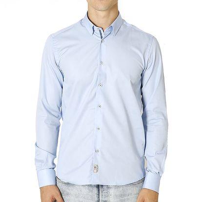 Pánská světle modrá košile s nášivkou Santa Barbara
