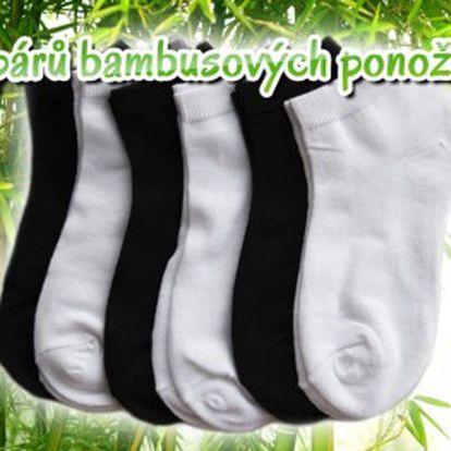 6 párů kotníčkových ponožek s bambusovým vláknem ve dvou barvách. Ideální díky vysoké absorbci potu a zápachu. Nejlevněji v ČR!!