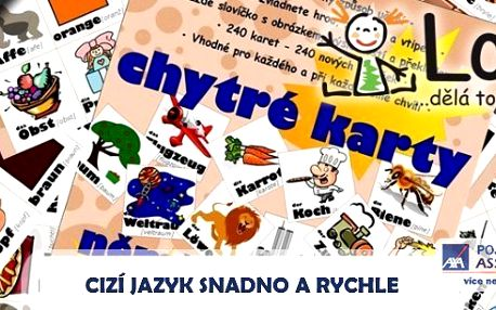 Chytré karty - angličtina, němčina, ruština nebo španělština - nejoptimálnější způsob, jak se naučit cizímu jazyku. Nejpoužívanější slovíčka, která prostě musíte zvládnout.Nikdy nebylo učení tak snadné!