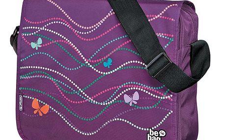 Taška přes rameno be.bag - Motýl fialový