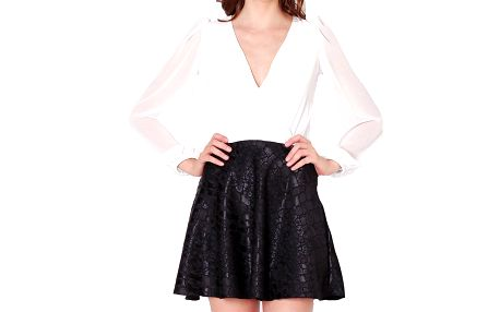 Dámské bílé šaty s černou sukýnkou Santa Barbara
